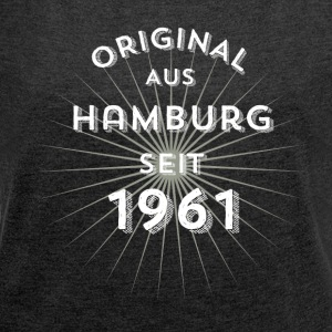 Original from Hamburg since 1961 - Women's T-shirt with rolled up sleeves