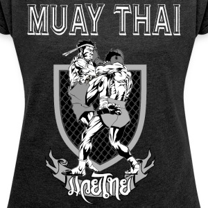 Muay Thai - Women's T-shirt with rolled up sleeves