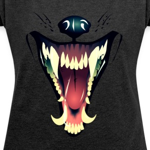 WereWHAT ?! - Women's T-shirt with rolled up sleeves