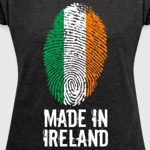 Made In Ireland / Irland / Éire - Frauen T-Shirt mit gerollten Ärmeln