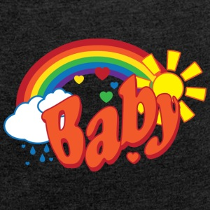 Rainbow baby Genderneutral - Women's T-shirt with rolled up sleeves