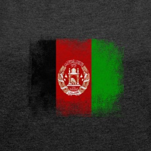 Afghanistan Flag Proud Afghan Vintage Distressed - Women's T-shirt with rolled up sleeves