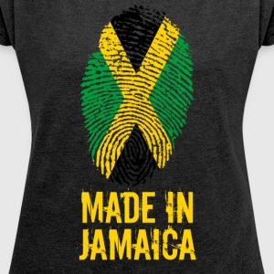 Made In Jamaica / Made in Jamaica - T-shirt med upprullade ärmar dam