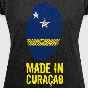 Made In Curaçao / Kòrsou - Women's T-shirt with rolled up sleeves