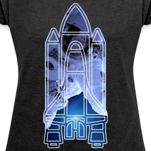 Space Shuttle - Astronaut - Women's T-shirt with rolled up sleeves