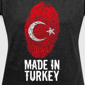 Made in Turkiet / Made in Turkiet Türkiye - T-shirt med upprullade ärmar dam