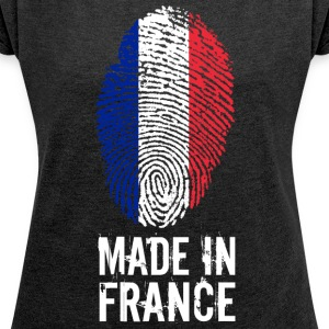 Made In France / France / République française - Women's T-shirt with rolled up sleeves