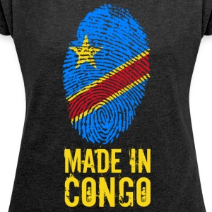 Made In Congo / DRC / Zaire - Women's T-shirt with rolled up sleeves