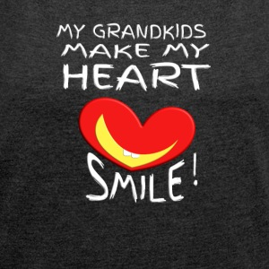 grand kids - Women's T-shirt with rolled up sleeves