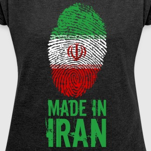 Made in Iran / Made in Īrān Perse Iran - T-shirt Femme à manches retroussées
