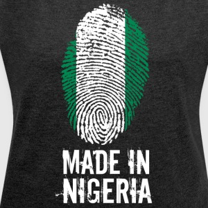 Made In Nigeria - Dame T-shirt med rulleærmer