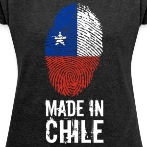 Made In Chile - Frauen T-Shirt mit gerollten Ärmeln
