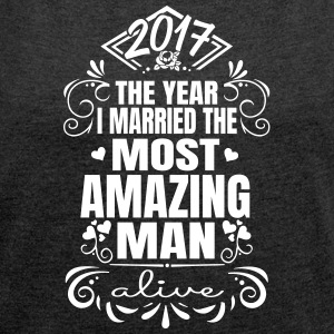 Wedding 2017 - Best man - Women's T-shirt with rolled up sleeves