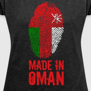 Made In Oman / سلطنة عمان /'umān - Women's T-shirt with rolled up sleeves