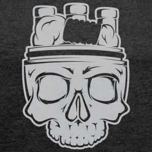 VAPE SKULL - Women's T-shirt with rolled up sleeves