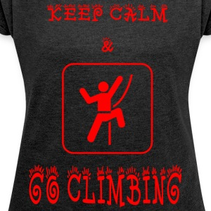 GO_CLIMBING - Women's T-shirt with rolled up sleeves