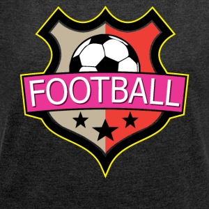 Football - Soccer - Women's T-shirt with rolled up sleeves