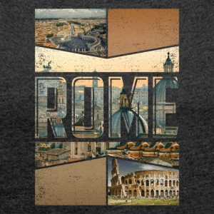 Rome Roma Rome city design as a souvenir - Women's T-shirt with rolled up sleeves