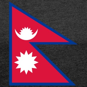 National Flag Of Nepal - Women's T-shirt with rolled up sleeves