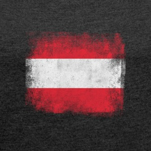 Austria Flag Proud Austrian Vintage Distressed - Women's T-shirt with rolled up sleeves