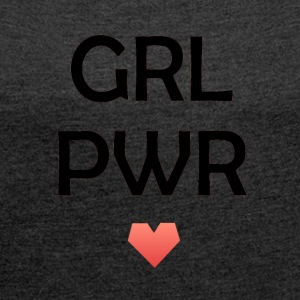 Girl Power - T-shirt med upprullade ärmar dam