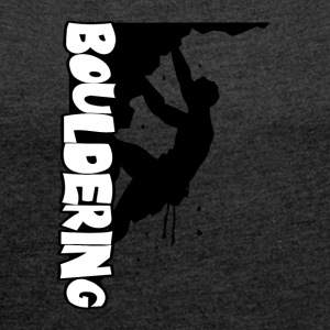 Bouldering Print - Women's T-shirt with rolled up sleeves