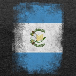 Guatemala Flag Proud Guatemalan Vintage Distressed - Women's T-shirt with rolled up sleeves