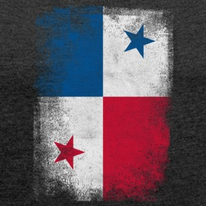 Panama Flag Proud Panamanian Vintage Distressed - Women's T-shirt with rolled up sleeves