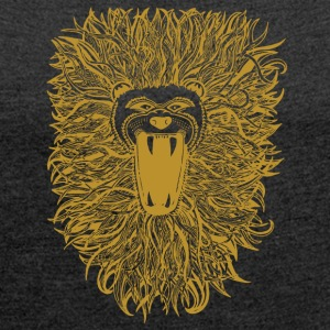 Golden-Lion - Women's T-shirt with rolled up sleeves