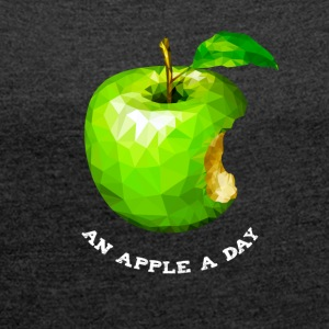 An apple a day Nerd Programmers Pc System grü - Women's T-shirt with rolled up sleeves