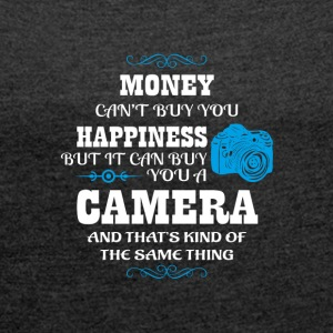 Camera Photographer Gift - Women's T-shirt with rolled up sleeves