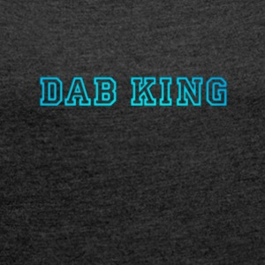 dab dabbing King Football touchdown cool fun sport - Frauen T-Shirt mit gerollten Ärmeln
