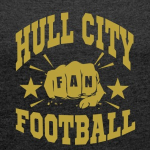 Hull City Fan - T-shirt med upprullade ärmar dam