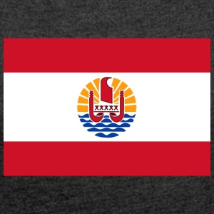 National Flag Of French Polynesia - Women's T-shirt with rolled up sleeves