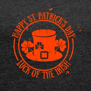 Happy St.Patricks Day - Women's T-shirt with rolled up sleeves