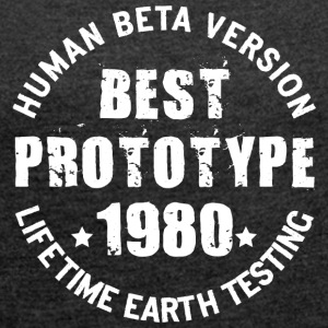 1980 - The year of birth of legendary prototypes - Women's T-shirt with rolled up sleeves