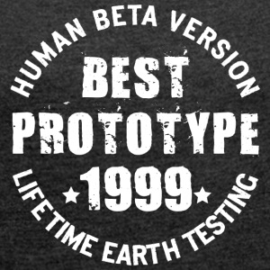 1999 - The birth year of legendary prototypes - Women's T-shirt with rolled up sleeves