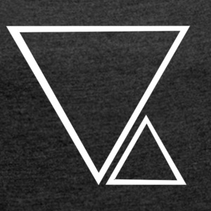 2 triangles - Women's T-shirt with rolled up sleeves