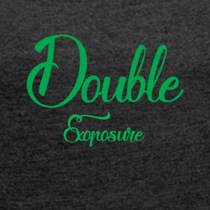 Double exposure - Women's T-shirt with rolled up sleeves