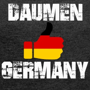 Germany2 - Women's T-shirt with rolled up sleeves