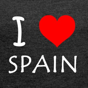 I Love Spain - Women's T-shirt with rolled up sleeves