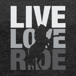 Love Live Ride - Women's T-shirt with rolled up sleeves