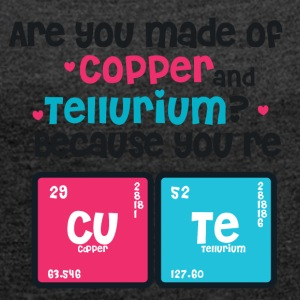 Youre Cute - Copper - Tellurium CUTE - Women's T-shirt with rolled up sleeves