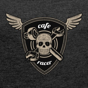 Cafe racer road race - Women's T-shirt with rolled up sleeves