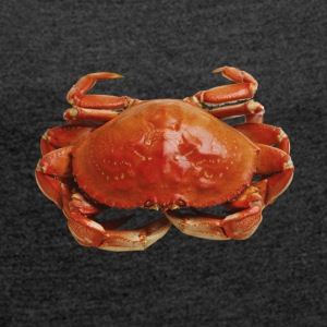 Red crab - Women's T-shirt with rolled up sleeves