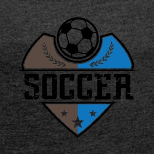 Soccer - Soccer - Women's T-shirt with rolled up sleeves
