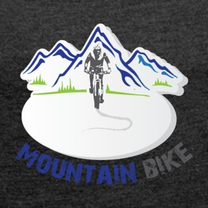 Mountain Bike - T-shirt med upprullade ärmar dam