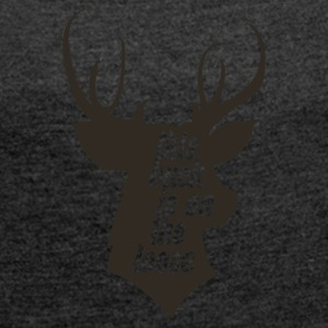 deer Hunting - Women's T-shirt with rolled up sleeves