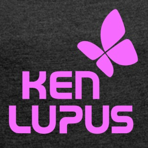 Ken lupus purple logo - Women's T-shirt with rolled up sleeves