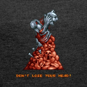 Pixelart Graveyard Boss Enemy - Women's T-shirt with rolled up sleeves